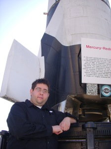 Here is Josh in front of a Mercury Redstone rocket