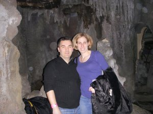 The caves were lit up behind us but lighting didn't show up well in the photos