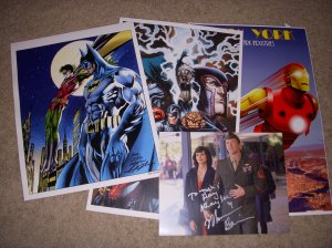 Josh's loot from STL Comic Con